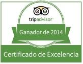 certificado de excelencia tripadvisor 2014