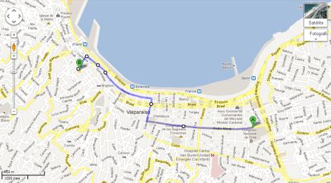 Cómo llegar desde Terminal de Buses Valparaíso  en Microbus / Directions from Valparaíso Bus Terminal By Bus