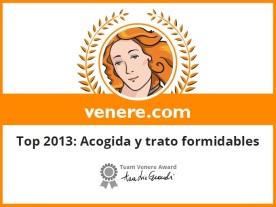 premio venere 2013 acogida y trato formidable 2013